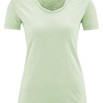 T-shirt Alexandra in 100% bio-katoen jersey, muntgroen, Living Crafts, beschikbaar in de maten XS, S, M en L, prijs: 26,99 €