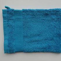 Washandje in 100% bio-katoen 580 g/m², 16 x 21 cm, atlantisch blauw, Cotonea