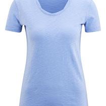 T-shirt Alexandra in 100% bio-katoen jersey, lichtblauw, Living Crafts, beschikbaar in de maten XS, S, M en L, prijs: 26,99 €