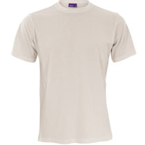 Basis T-shirt Clark in 100% bio-katoen tricot, naturel, Living Crafts, beschikbaar in de maten S, M, L en XL