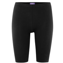 Legging, model wielerbroek, Idina in 92% bio-katoen en 8% elastaan jersey, zwart, Living Crafts, beschikbaar in de maten XS, S, M, L en XL