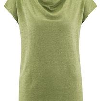 T-shirt Gilka in 100% bio-linnen jersey, groen, Living Crafts, beschikbaar in de maten XS, S, M, L en XL, prijs: 44,99 €