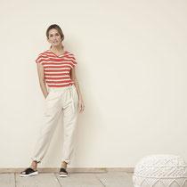 T-shirt Gilka en lange broek Gill, zand, Living Crafts
