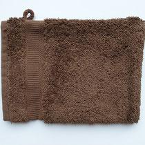 Washandje in 100% bio-katoen 580 g/m², 16 x 21 cm, chocolade, Cotonea
