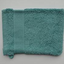 Washandje in 100% bio-katoen 580 g/m², 16 x 21 cm, opaalblauw, Cotonea