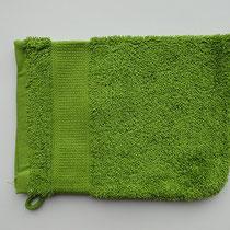 Washandje in 100% bio-katoen 580 g/m², 16 x 21 cm, pistache groen, Cotonea