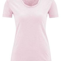 T-shirt Alexandra in 100% bio-katoen jersey, lichtroze, Living Crafts, beschikbaar in de maten XS, S, M, L en XL, prijs: 26,99 €