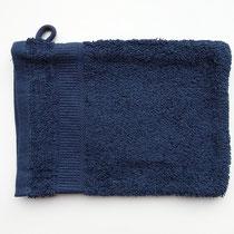 Washandje in 100% bio-katoen 580 g/m², 16 x 21 cm, marineblauw, Cotonea