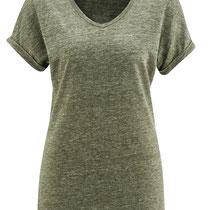 T-shirt Ava in 100% bio-linnen jersey, oregano, Living Crafts, beschikbaar in de maat M, prijs: 39,99 €