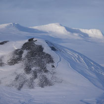 Vulkan im Schnee
