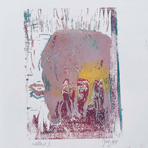 Wallerie II,     18x24,     Linolschnitt auf Papier, 2001