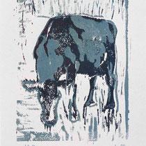Wallerie I,     18x24,     Linolschnitt auf Papier, 2001