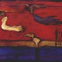 Auf dem Weg, Mischtechnik, 2004, (70 x 100 cm), im Privatbesitz