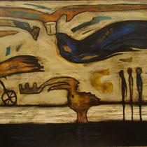 Auf dem Weg, Mischtechnik, 2004 (200 x 160 cm), im privatbesitz