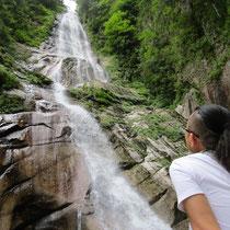 かくれ滝(落差105m)・上北山の秘境の中の秘境