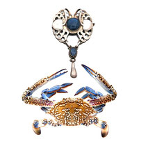 WHEN THE FINEST PIECES OF THE NATURE MEETS THE MAN MADE FINEST PIECE - Georg Jense broche-pendentif 1920.