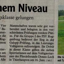 1. Platz Breitensporttag Weißenhorn 2012
