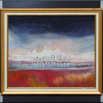 """""""Les douze"""" 46 x 55 - Acrylique et huile sur toile  avec ce cadre - 760€"""