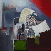 """""""La tour de Babel """" 100 x 100 cms - 2870€"""