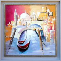 """""""Venise"""" 70 x 70 cms - Acrylique et huile sur toile - 1050€"""
