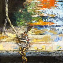 """""""l'amarrage """" - 80 x 177 cms - 2200€"""