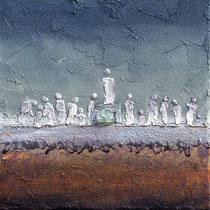 """"""" Le prophète"""" - 30 x 30 cms - Acrylique et huile sur toile - Sans cadre - 290€"""