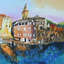 """"""" Saint Florent """" 65 x 100 cms - Acrylique et huile sur toile - 1240€"""