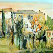 """"""" Toscane"""" 40 x 90 cms - Acrylique et huile sur toile - 1050€"""