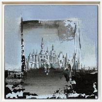""""""" Aba """" - 20 x 20 cms - Acrylique et huile sur carton entoilé - 190€"""