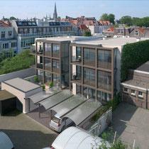 """Nieuwbouw van een parkeerkelder en 6 luxe appartementen """"Woonlindes"""" aan de Frederikstraat te Den Haag. Werkzaamheden: Bouwkundig tekenwerk en vergunningen."""