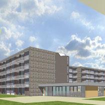 Revitalisering van 110 appartementen. Werkzaamheden: kostenbewaking en directievoering.