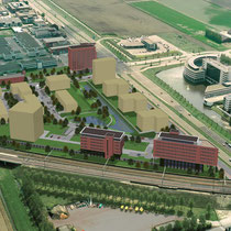 Nieuwbouw van 3 kantoren ca. 17.000 m2 BVO. Werkzaamheden: bouwkundig tekenwerk.