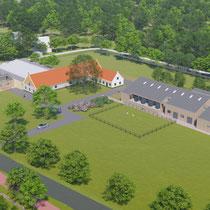Vervanging en verplaatsing van bestaande dierenopvang en -pension te Wassenaar.
