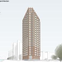 Nieuwbouw woontoren met 220 appartementen op de hoek van de Slachthuislaan en de Netherkade. Werkzaamheden: kostenbewaking en projectmanagement.