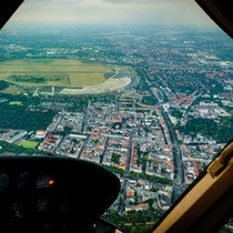 Hubschrauberflug Cockpit