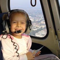 Hubschrauberflug auch für Kinder