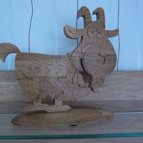 Ziege aus Holz / kreativ-fraesen