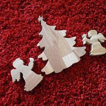 Engel und Tannenbaum / Weihnachten / kreativ-fraesen