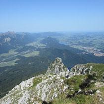 Blick vom Säuling Richtung Weißensee