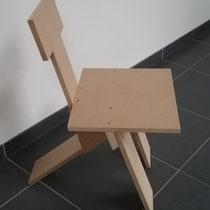 3-poot stoel van 18mm MDF-plaat