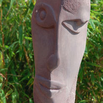 Roter Kopf, Sandstein, 51 x 25 x 25 cm, 2007
