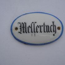 Schild Messertuch