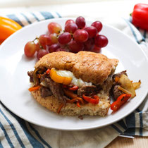 15-minute one-skillet philly cheesesteak sandwiches recipe