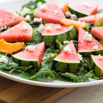 Easy watermelon platter salad recipe
