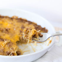 healthy cheeseburger spaghetti squash casserole recipe