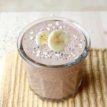chocolate banana-chia overnight oats