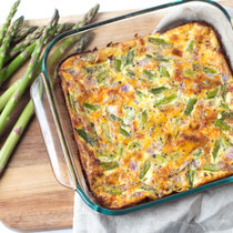 cheesy gluten free ham and asparagus frittata recipe