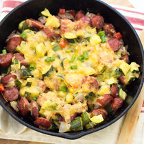 gluten free sausage, zucchini skillet recipe