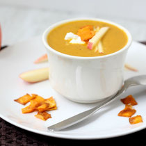vegan sweet potato, apple, curry soup