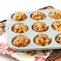 Lighter stuffing muffins recipe